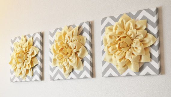 Wall Flower Decor Coral Dahlia on Gray and White by bedbuggs, $34.00 ...