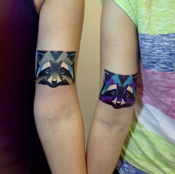 Remarkable colored tattoos