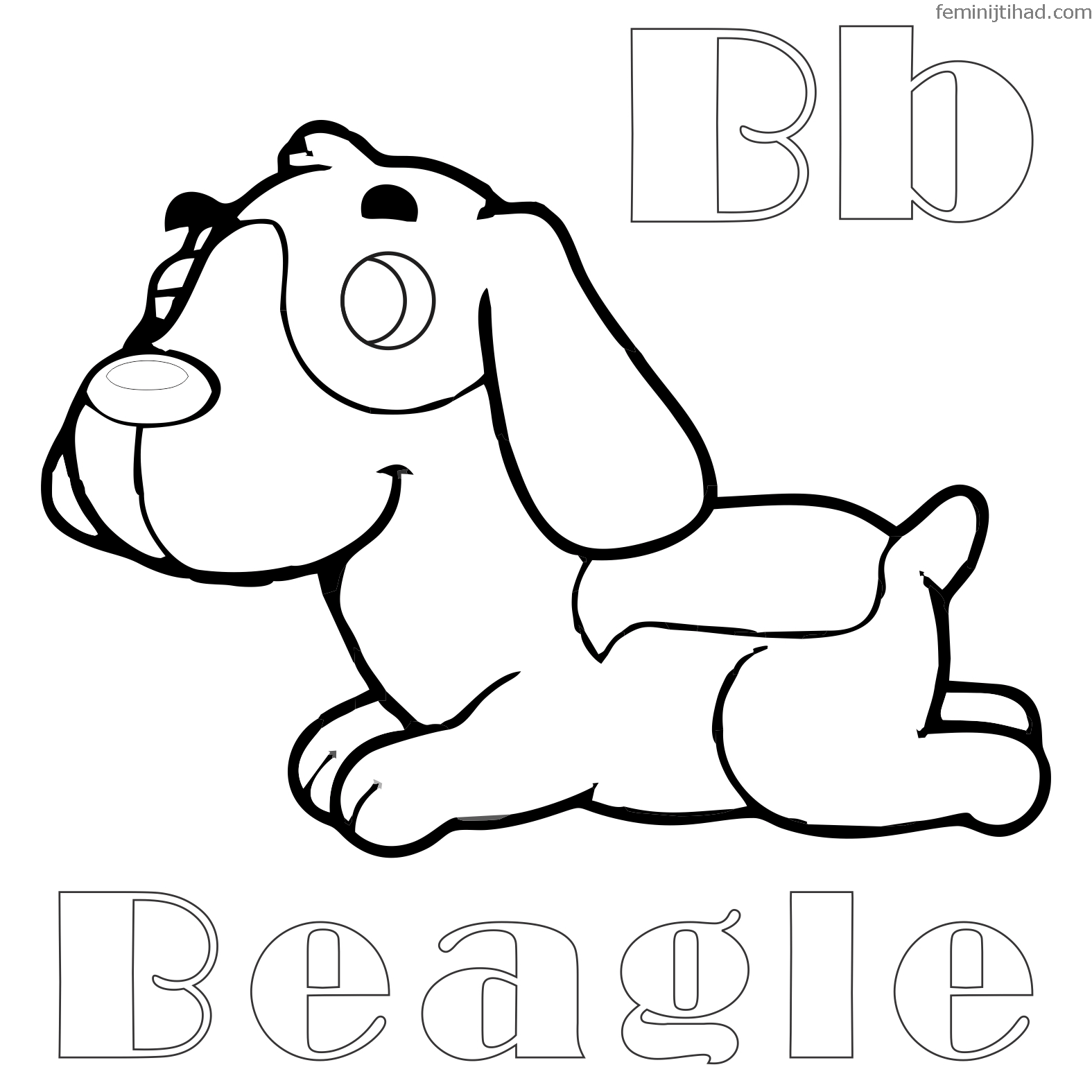 Collection Of Beagle Coloring Pages Printable