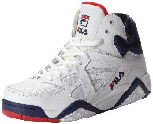 Fila Men's The Cage Basketball Shoe,WhiteFila NavyFila Red