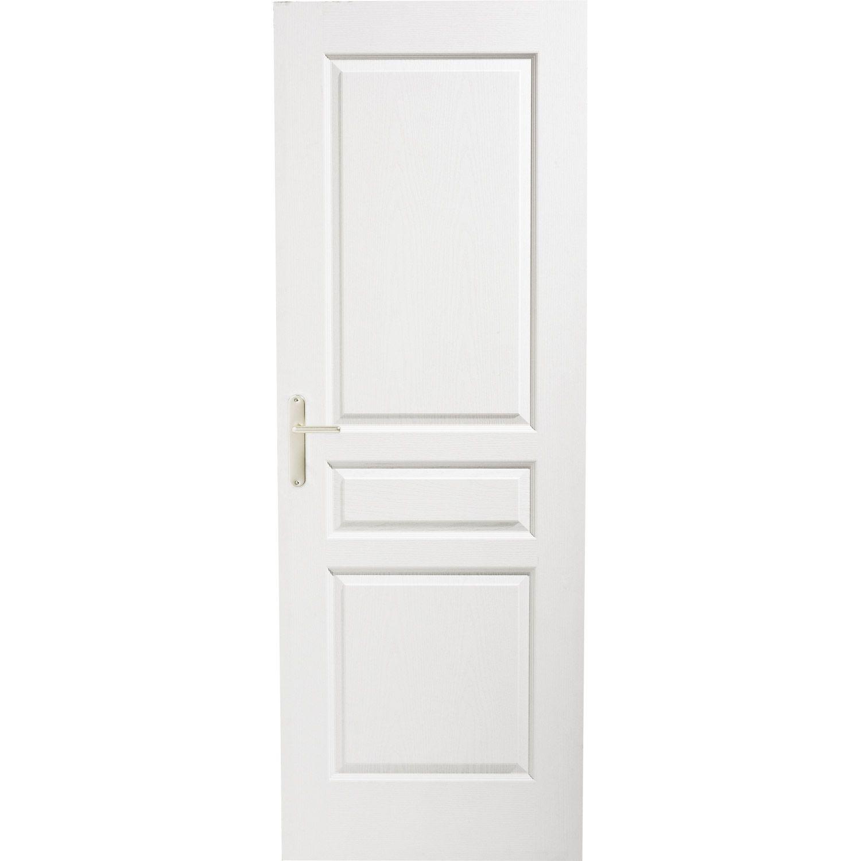 Bloc-porte postformé, pleine, poussant gauche, 204 x 73 cm LEROY ...