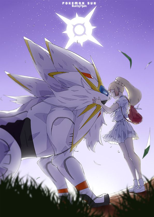 Guess Who Has Been Into Pokemon Lately Solgaleo And Lillie Based On The Credits Scene Of Pokemon Sun This Will Be Made Cute Pokemon Wallpaper Anime Pokemon