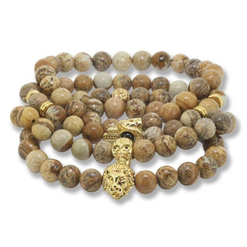 Natural stone beads men bracelets bracciali pulseras buddha
