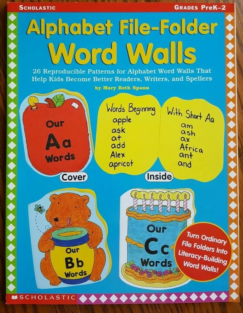 Alphabet File Folder Word Walls For Grades Prek 2 From Scholastic