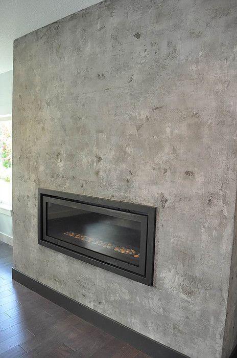 Venetian Plaster Fireplace For The Home Pinterest