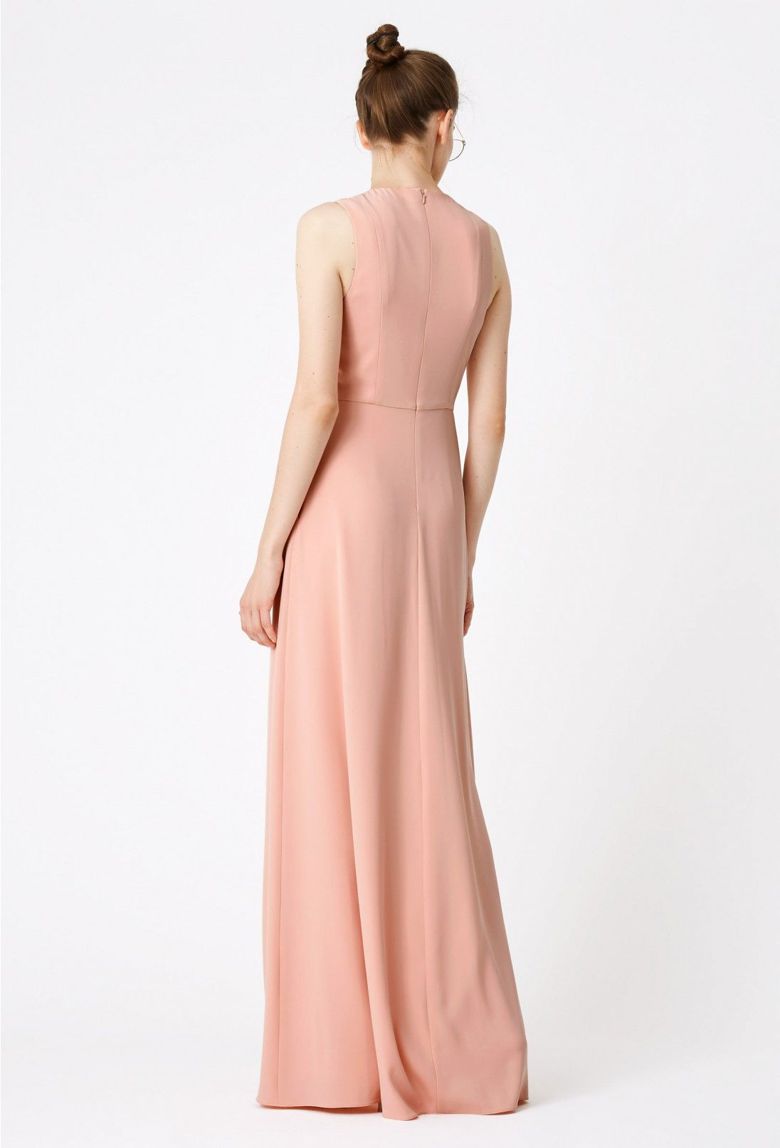 Aqaq Warp Wide Leg Jumpsuit Pink Summer Wedding Guests
