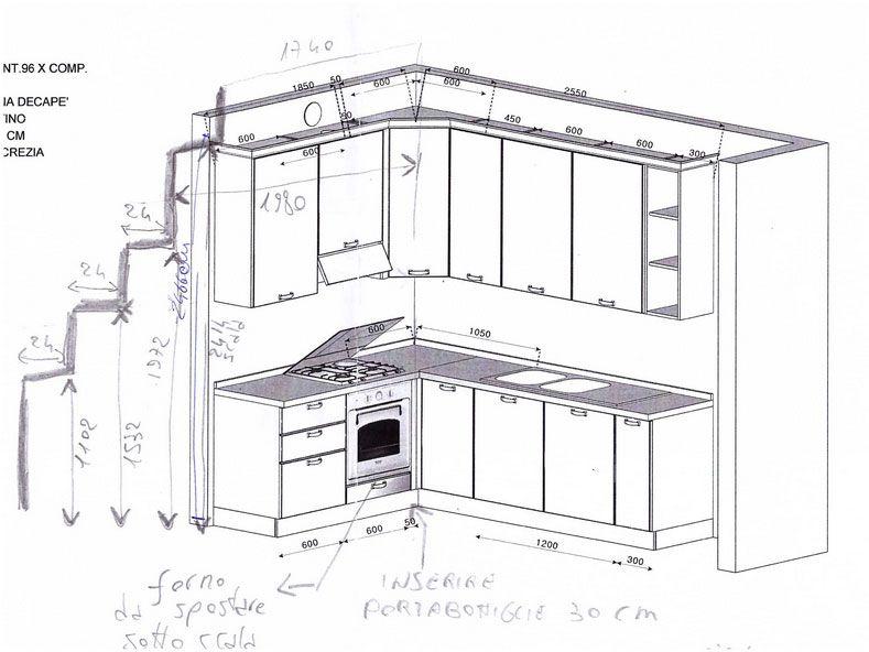 Misure mobili cucina con modelli moderni e il miglior - Mobili cucina misure ...