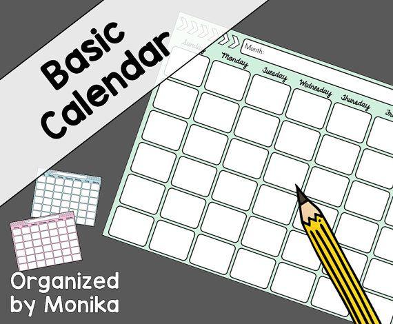 basic calendar, printable calendar, calendar template, calendar - sample monthly budget template