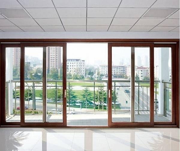 Sliding doors modern double sliding patio doors doors for Patio doors for front of house