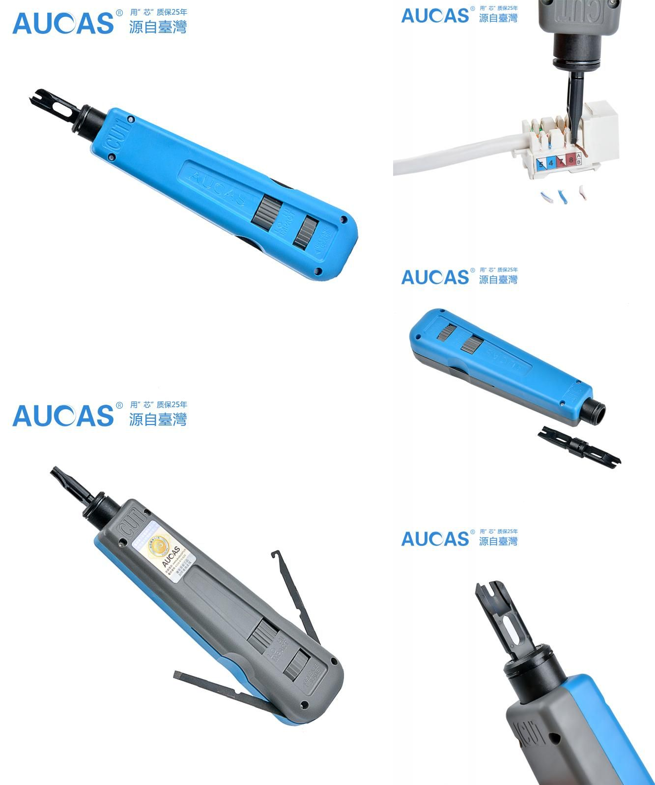 [Visit to Buy] Aucas Network Cable impact krone tool module block insertion punch down tool 110 type patch panel hookup tool #Advertisement