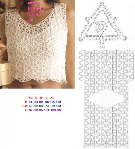 Resultado de imagen para motivos en crochet para top