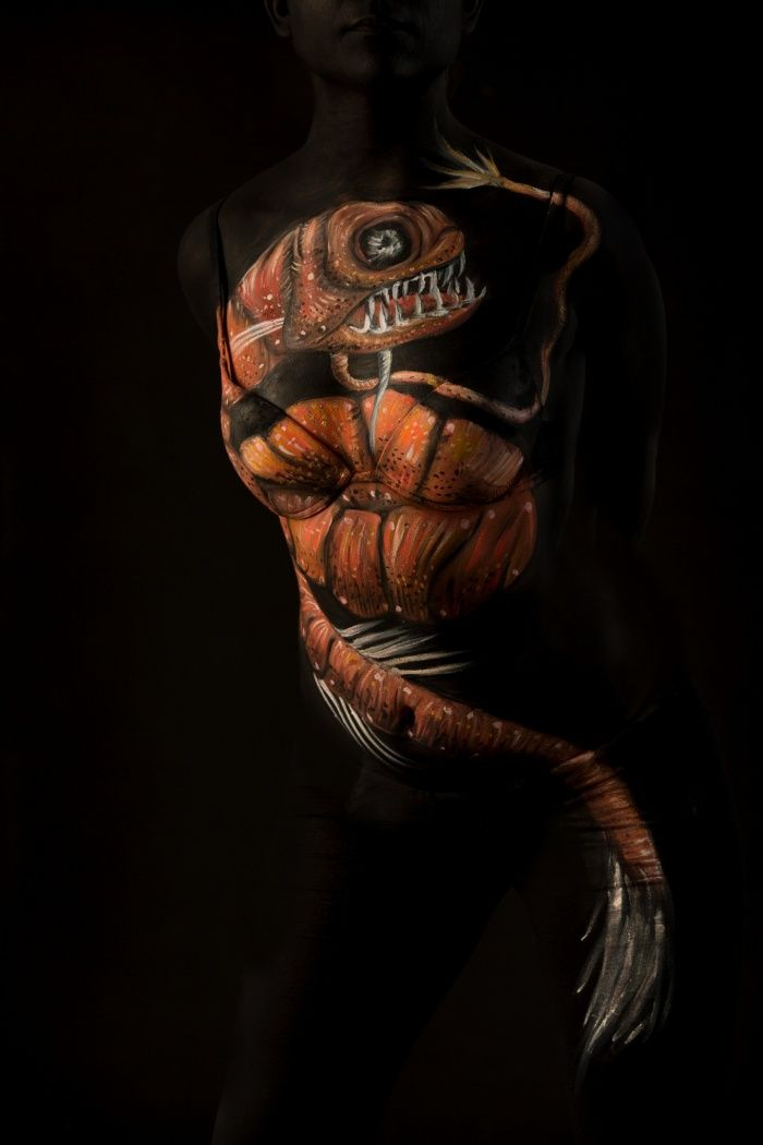 Deep Sea Body Painting In Pictures Body Painting Deep Sea Life Painting