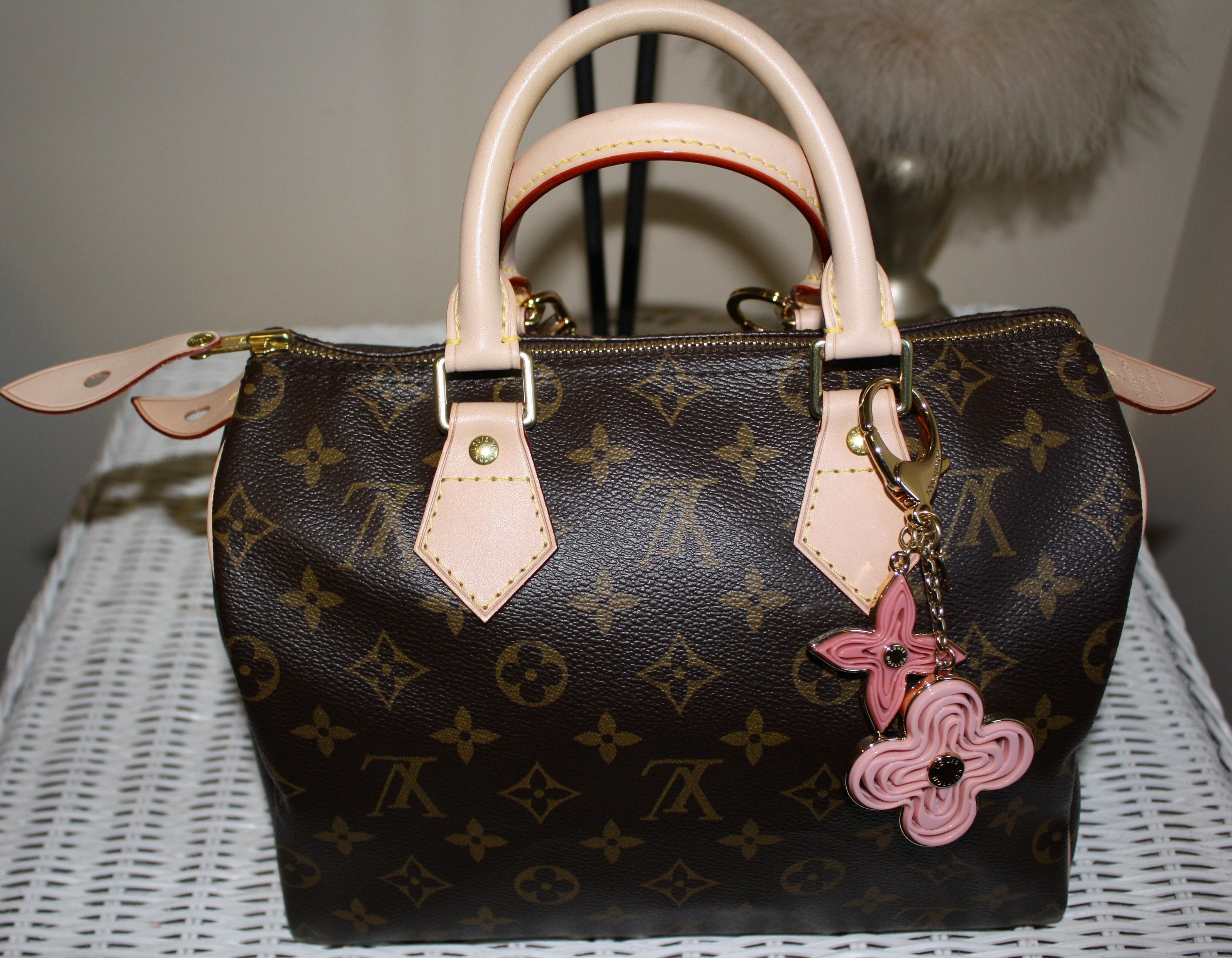 174029d35d0 louis vuitton speedy 25 with naif bag charm m66921