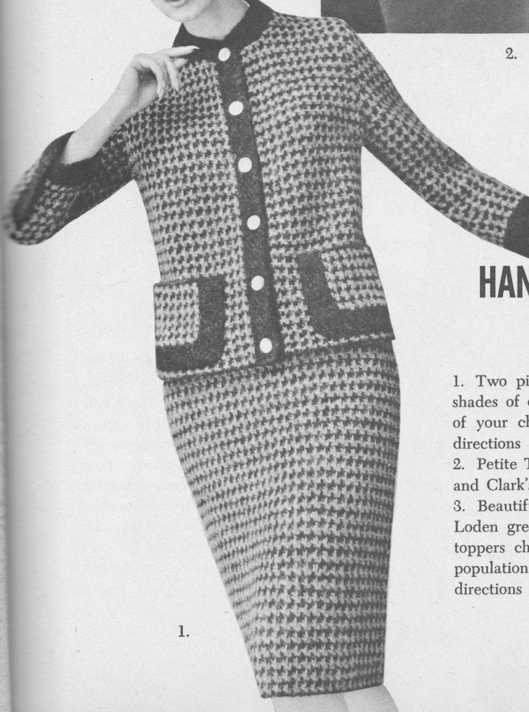 166 pdf chanel style suit knitting pattern ladies jacket and 166 pdf chanel style suit knitting pattern ladies jacket and skirt set pattern size 12 14 16 checked design vintage 1960s pdf download bankloansurffo Images