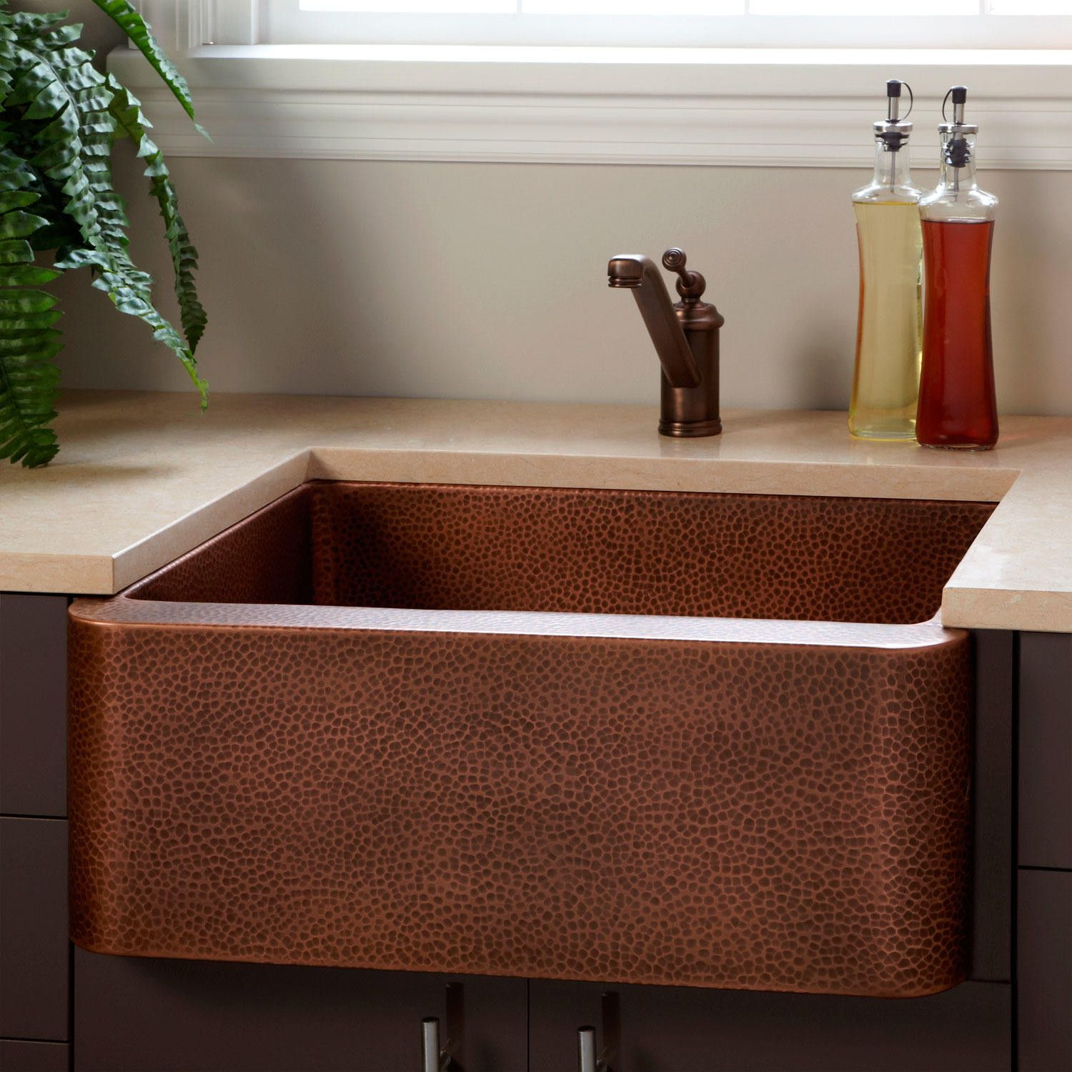 25 fiona hammered copper farmhouse sink copper