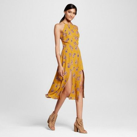 60392accd08 Women s Tie-back Midi Dress Yellow - Xhilaration™ (Juniors )   Target