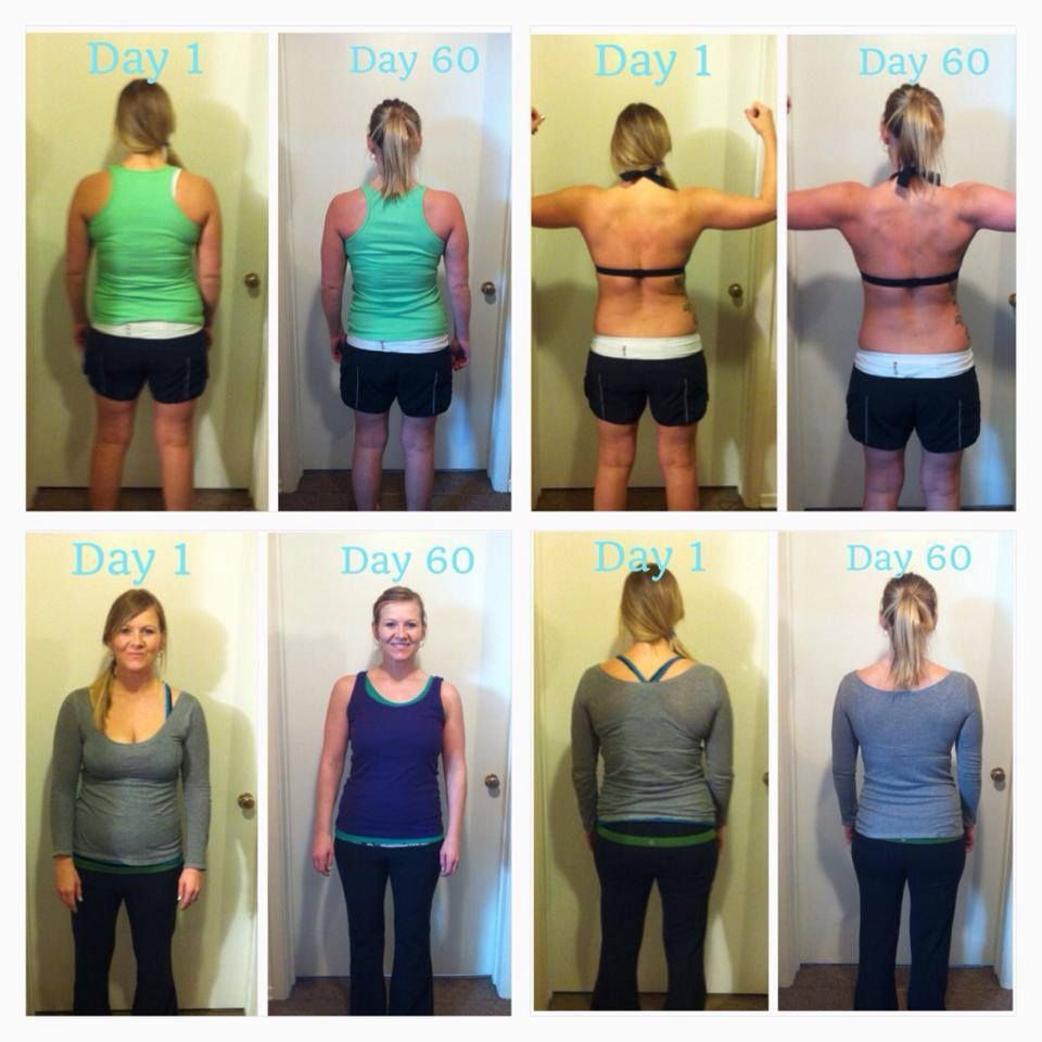 My Chalean Extreme 60 day before and after pics.