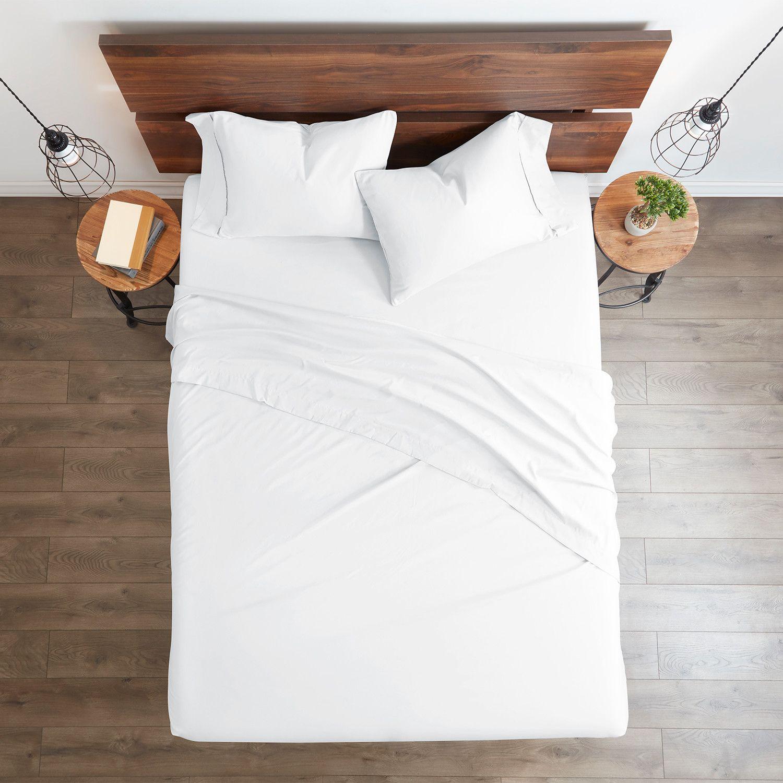 Good Kind Essential 6 Piece Bed Sheet Set White Sponsored Essential Piece Good Kind In 2020 Bed Sheet Sets Duvet Cover Sets Bed Sheets