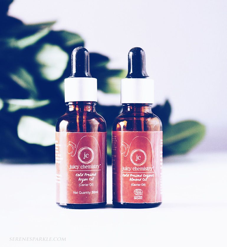Juicy Chemistry Cold Pressed Almond And Argan Oil Review Argan Oil Chemistry Oils
