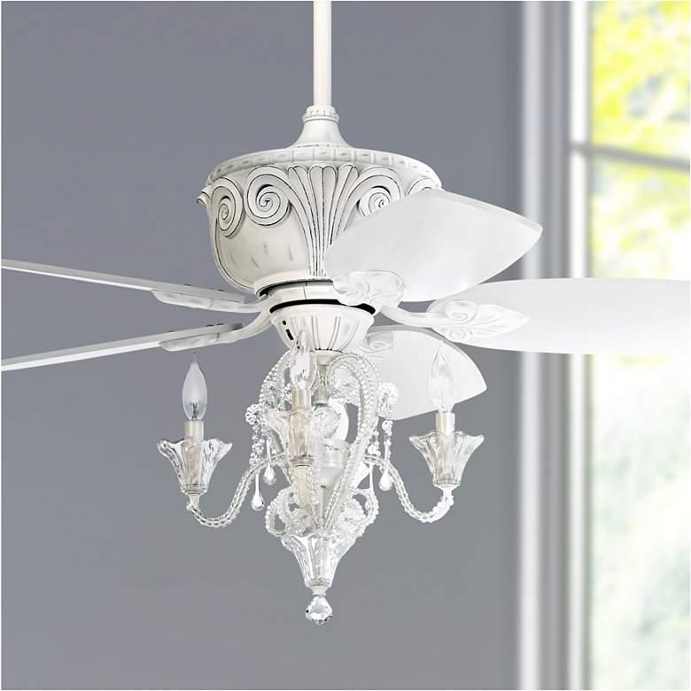 44 Casa Deville Antique White Led Ceiling Fan 67r59 Lamps Plus Ceiling Fan With Light Ceiling Fan Chandelier White Ceiling Fan