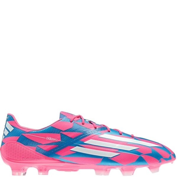 premium selection fef8d 9913a adidas F50 adizero TRX FG Solar Pink White Solar Blue Firm Ground Soccer  Cleats - model M17677