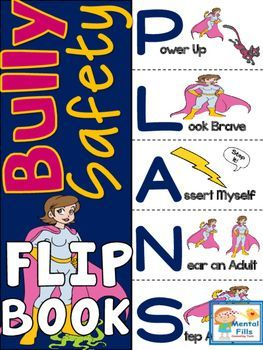 My Bully Safety Plan Flip Book  Tween Superheros  Flip Books