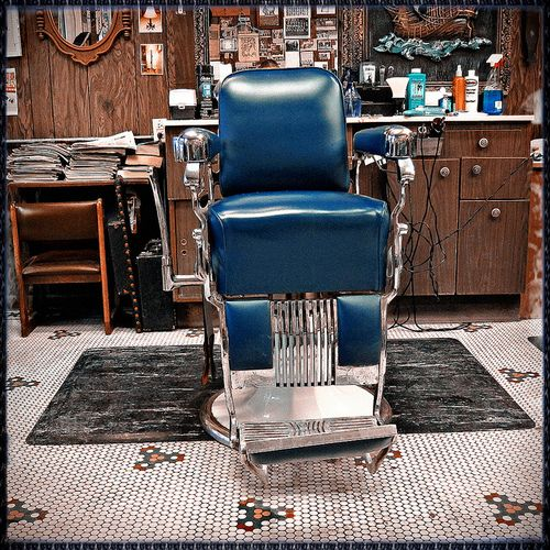 Blue Chair Barber Chair Barber Shop Classic Barber Shop