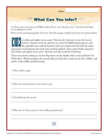 what can you infer reading comprehension activities
