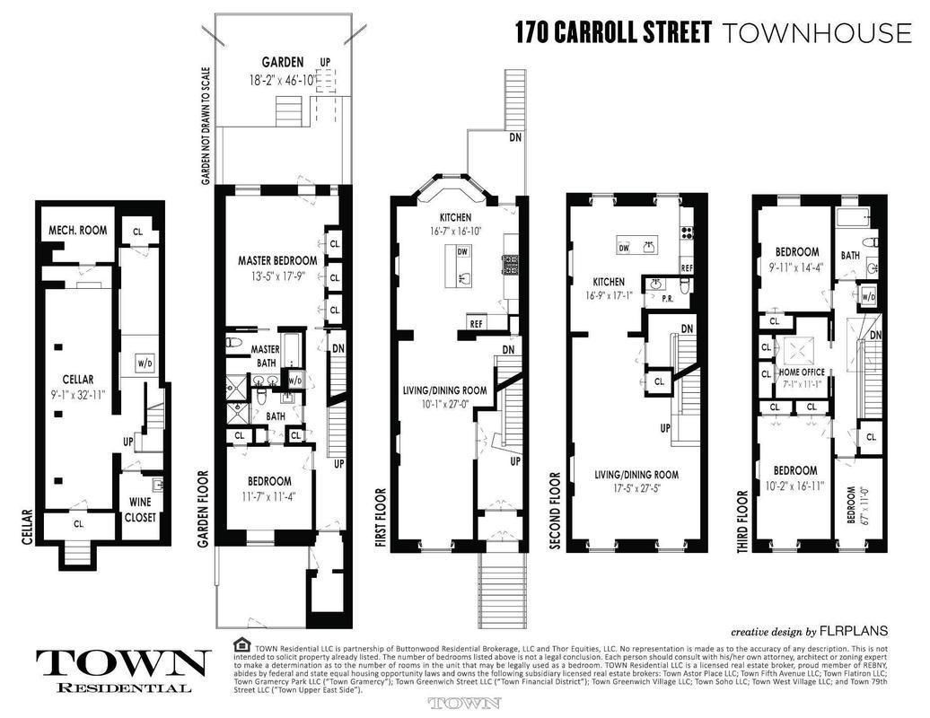 19th Century Carroll Gardens Home With Grand Proportions Seeks 4 2m Floor Plans House Plans Compact House