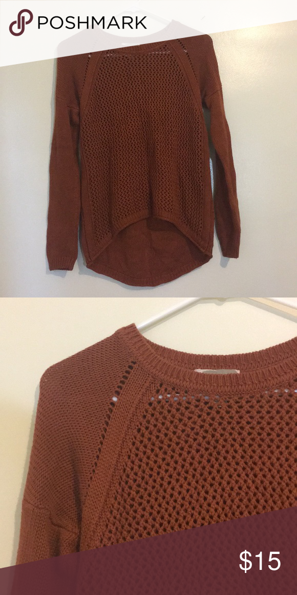 7162198a96ecab •forever 21• sweater Rust colored sweater from Forever 21. Forever 21  Sweaters Crew & Scoop Necks