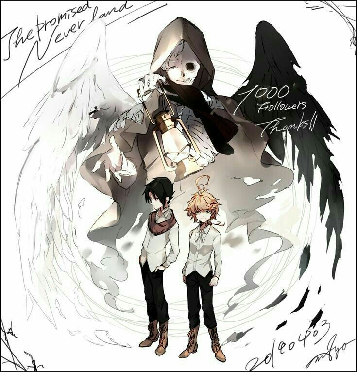 Yakusoku no Neverland Imágenes ️ (・ω・三・ω・)フンフン