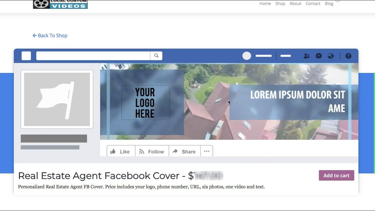 Real Estate Agent Facebook Cover Video Template Order Yours Today L Facebook Cover Blog Video Facebook Video