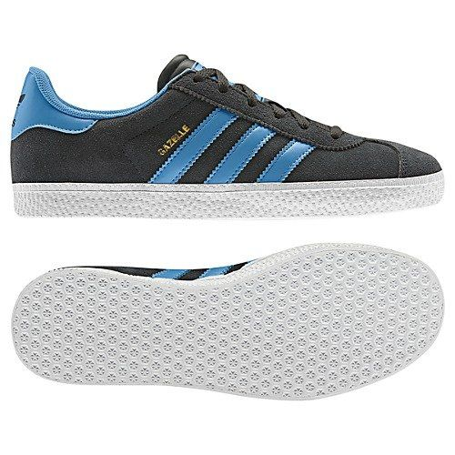 pretty nice b8728 c12ea Amazon.com Adidas Gazelle 2 J (4, Dark ShaleJoy BlueWhite) Shoes