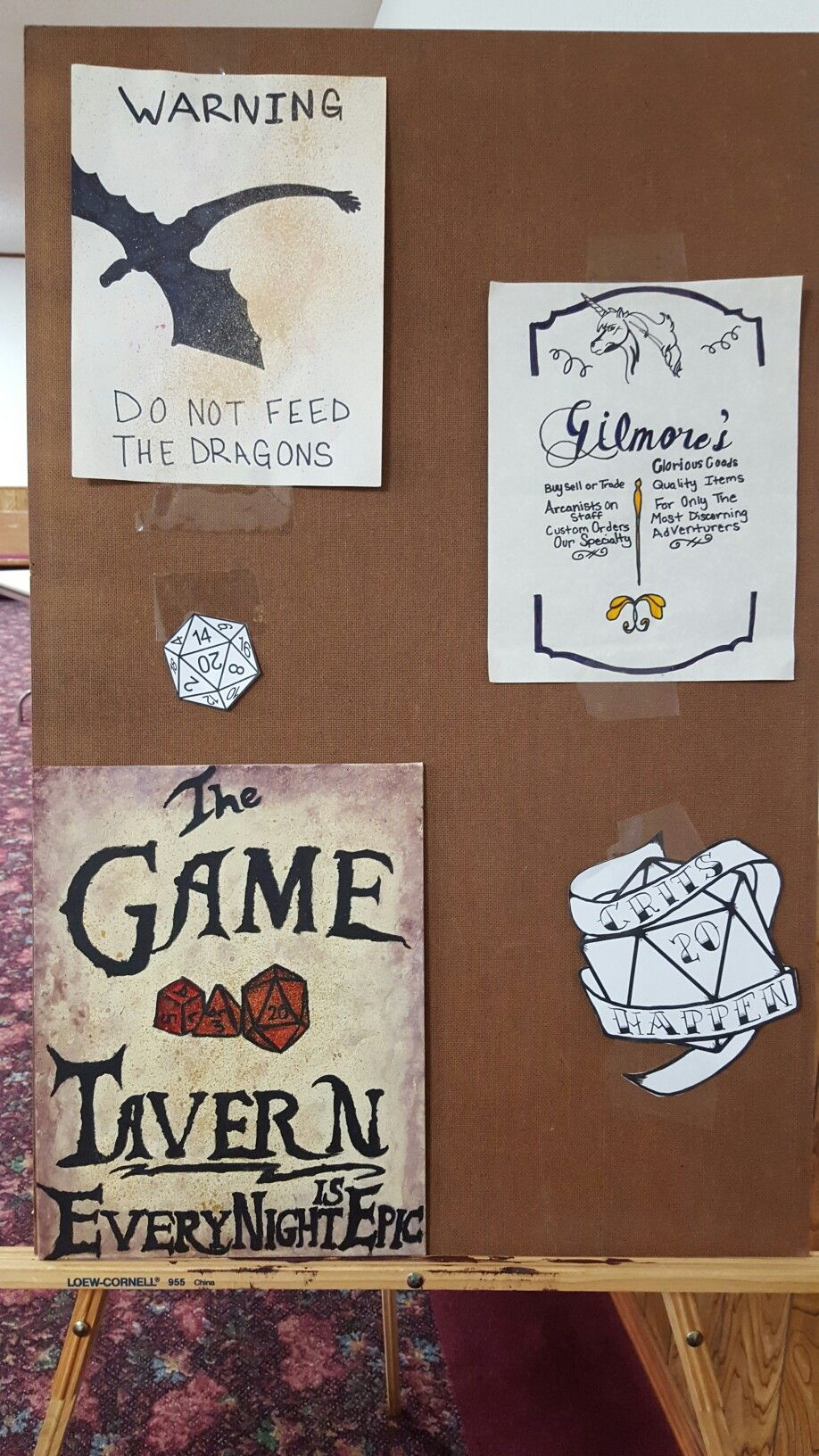Signs for a D&D party