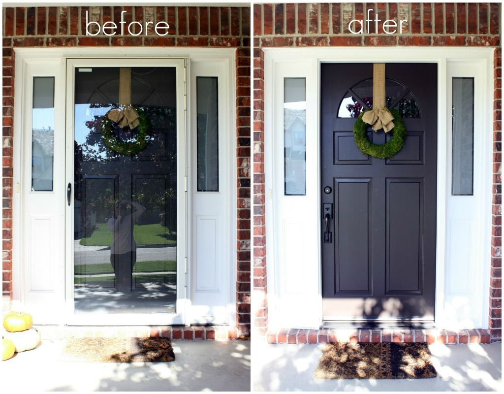 Just Say No To Storm Doors Tutorial Storm Door Makeover Best Storm Doors Storm Door