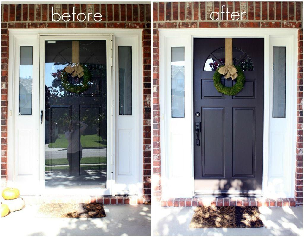 Best 25 Painted storm door ideas on Pinterest Black entry doors