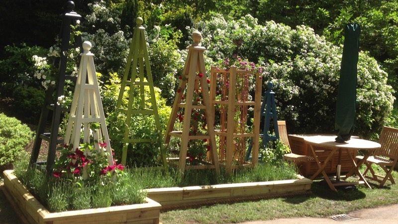 Wooden Obelisk & Painted Garden Obelisk For Sale Garden