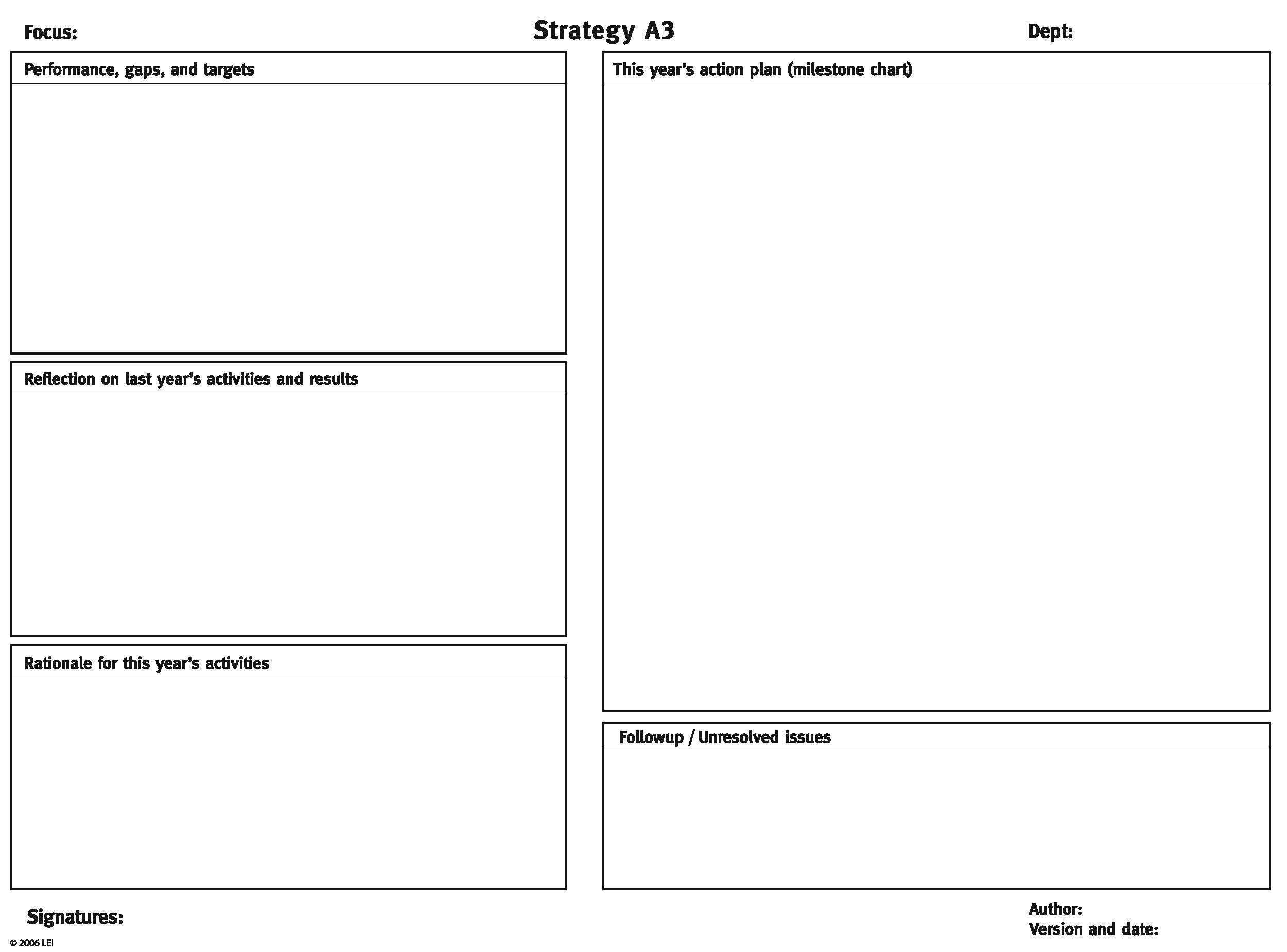 Image Result For Lean A3 Templates