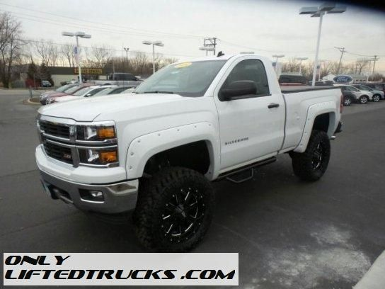 2014 Lifted Chevrolet Silverado 1500 Lt Regular Cab 4wd Illinois