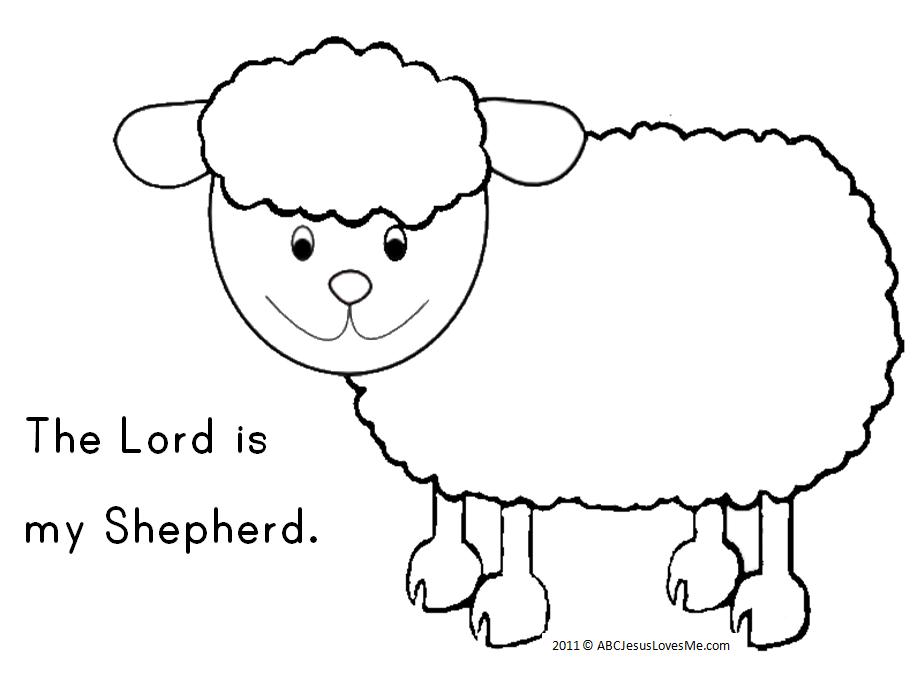 Psalms 23 - Coloring Page - SundaySchoolist