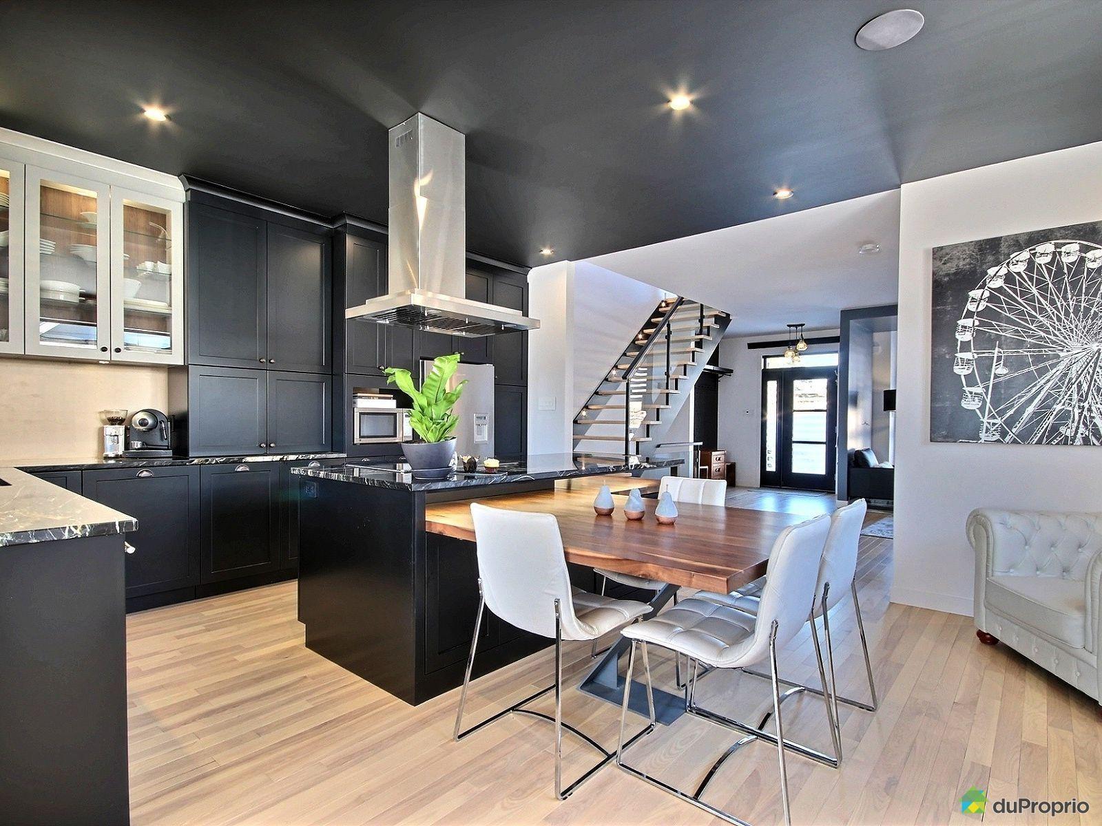 cuisine en noir et blanc magnifique cuisine avec de. Black Bedroom Furniture Sets. Home Design Ideas