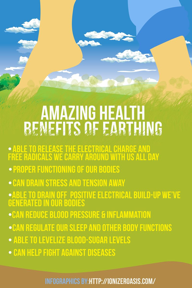 Amazing Health Benefits of  Earthing http://www.ionizeroasis.com/earthing/