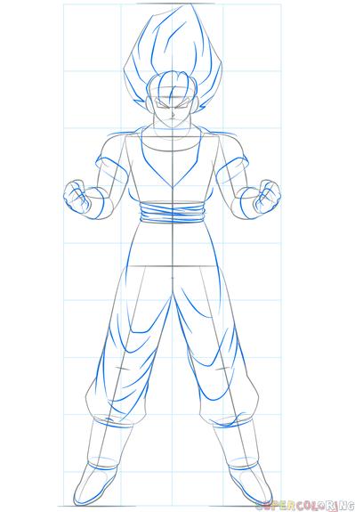 Goku Easy Drawing Step By Step
