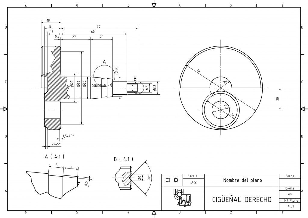Dibujo Tecnico Conjunto Cadena Cinematica Motor Tecnicas De Dibujo Dibujo Tecnico Ejercicios Dibujo Tecnico Industrial