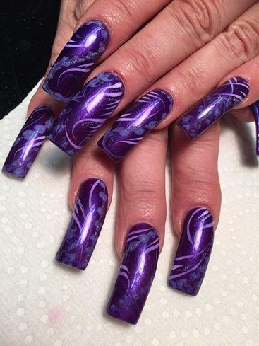 Purple Stream By Alysnails Nail Art Gallery Nailartgallery