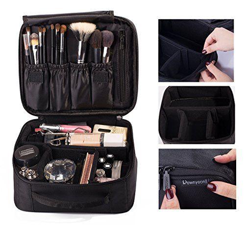 ROWNYEON Portable Velcro Travel makeup bag  Makeup Case ** For more information, visit image link. (Note:Amazon affiliate link)