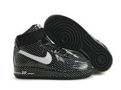 promo code a910c 7f12f Nike Air Force 1 High Black Polka Dot Sneakers