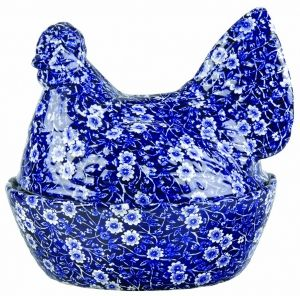 Burleigh Ware's Blue Calico Hen Bowl- Such a nanny piece. Especially keen to collect burleigh because of the memories it holds with my beautiful nanny!