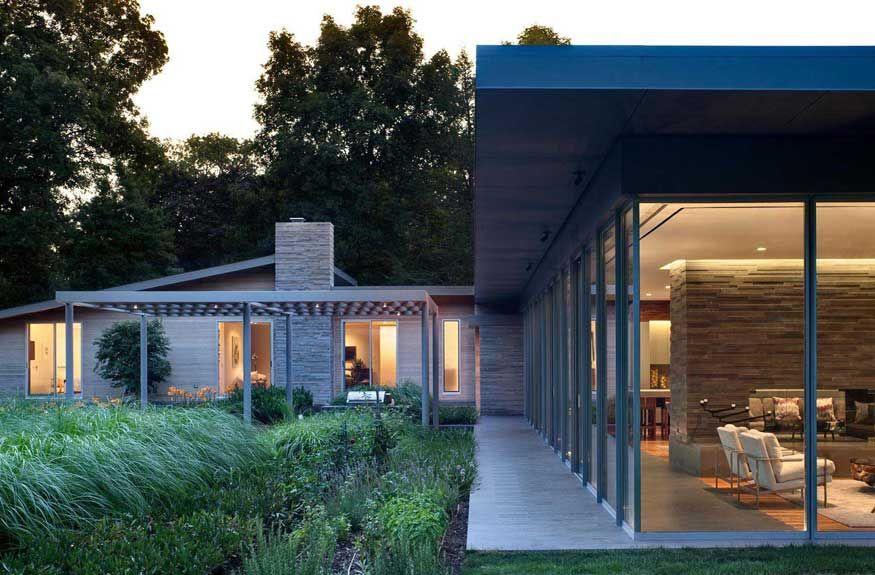 Ranch House Refurbishment Design A Transparent Pavilion Extension