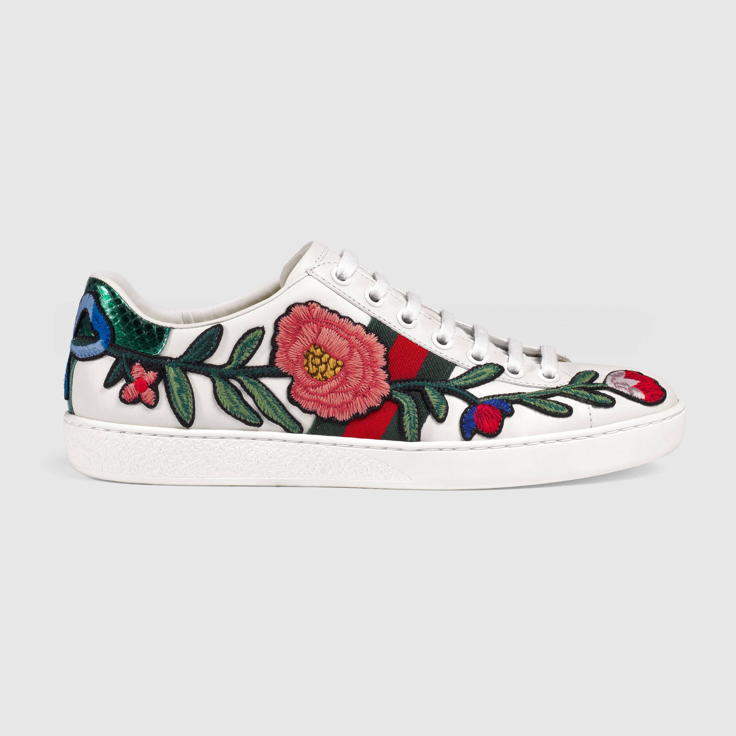 Ace embroidered sneaker - Gucci Women's